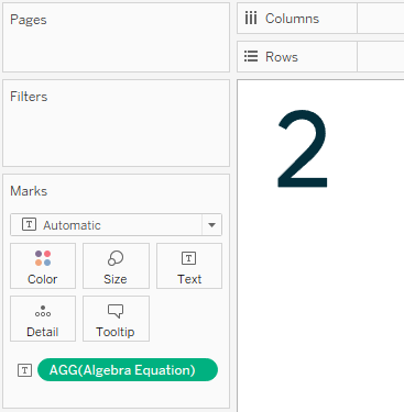 Tableau Algebra Equation Calculated Field