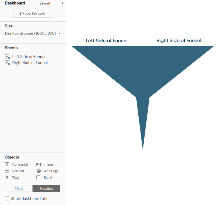 Lining Up Funnel Sides in Tableau
