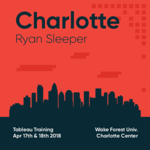Tableau Training with Ryan Sleeper Charlotte April 17 and 18 2018 B