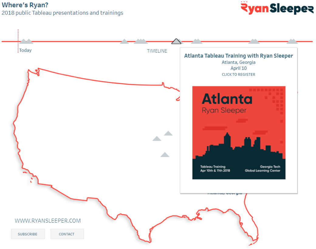 Ryan Sleeper Speaking Schedule Image in Tableau Tooltip