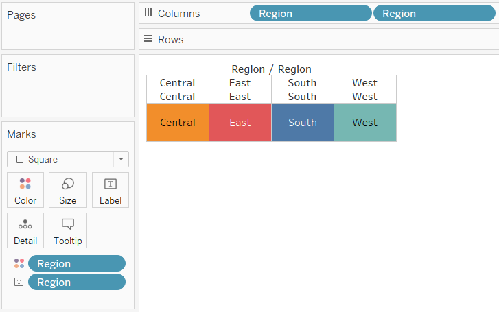 Tableau Highlight Table with Evenly Sized Squares