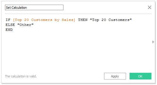 Using Tableau Sets in a Calculated Field