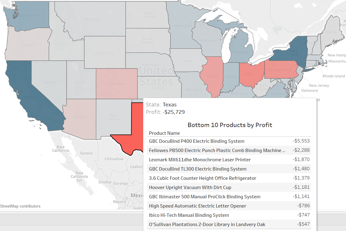 Displaying Bottom 10 List in a Tableau Tooltip