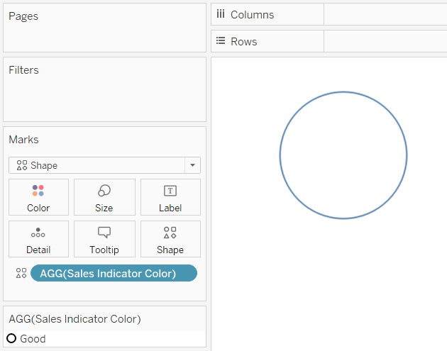 Starting a Custom Shape Indicator Gauge in Tableau